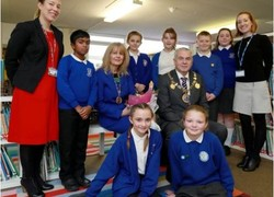 Education officials visit pupils from St James Primary Academy