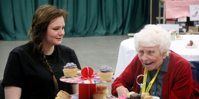 Hospitality students host afternoon tea for the elderly