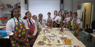 Budding chefs at All Saints' Academy