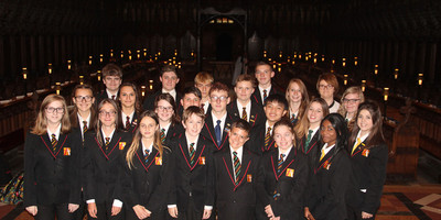 Academy choir perform at Bishop of Gloucester's inauguration