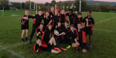 Year 8 Rugby team beat Pittville to the tournament plate