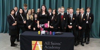 Emily Webb who featured on Dragon's Den inspires students