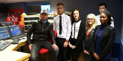 Sixth Form students visit the Heart Gloucestershire Radio station