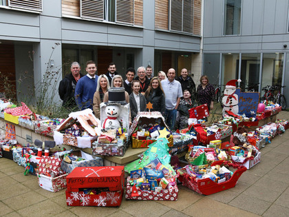 Christmas Hamper donation to the YMCA