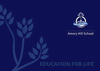 Amery Hill School Prospectus front cover