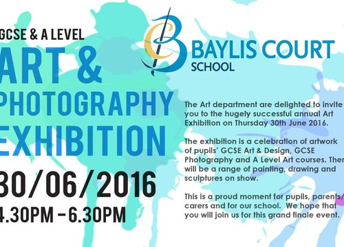 Art & Photography Exhibition - 30th June, 4.30-6.30pm
