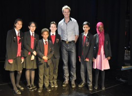 Year 6 receive Awards for their hard work and dedication from James Cracknell at London's Dominion Theatre.