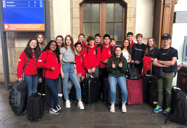 L5th arrive in Switzerland on French Exchange 2019