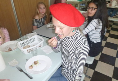 L3 girl eats snail on half term trip to France 2019