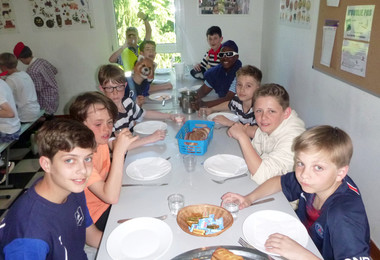 Meal on L3 half term trip to France 2019