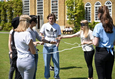 Blindfold task on L6 Leadership Day May 2019