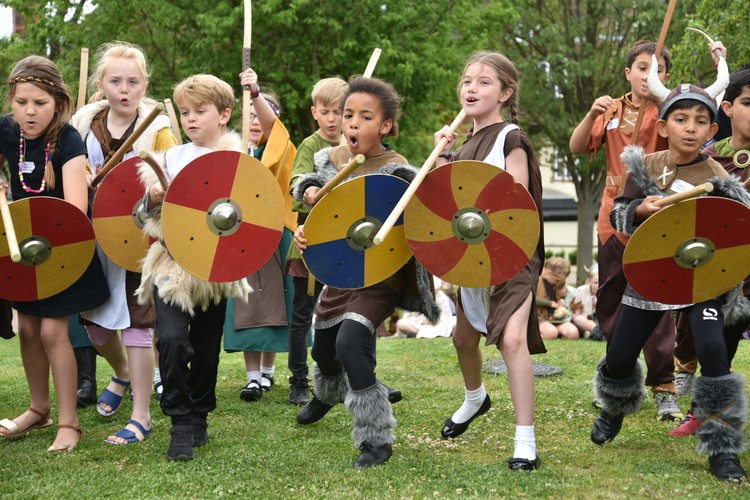 Viking Raid by Lower Shell pupils June 2019