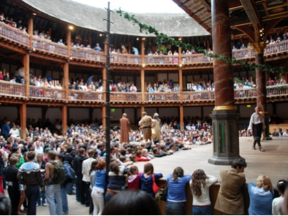 Shakespeares globe theatre 4th form trip