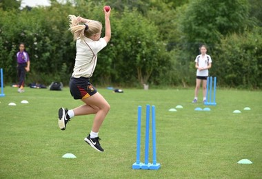Top Training Session for Form 1 & 2 Girl Cricketers