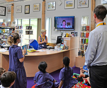 Shell pupils with author on skype