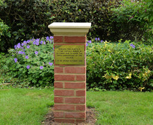 Time capsule plinth with plaque