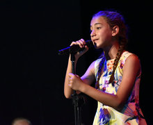 Tia singing in Prep School Talent Show 2019