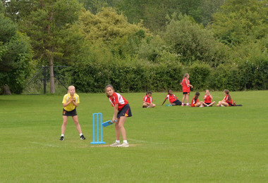 Forms 1 & 2 play first ever girls' house cricket