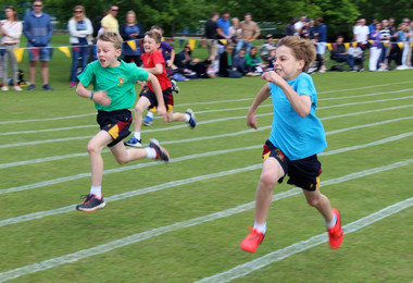 Boys race on shell sports day june 2019