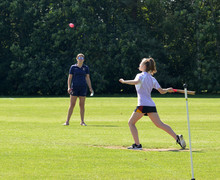 Alliott playing in house rounders 2019