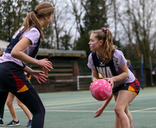 Alliott House playing in House Netball Spring Term 2019