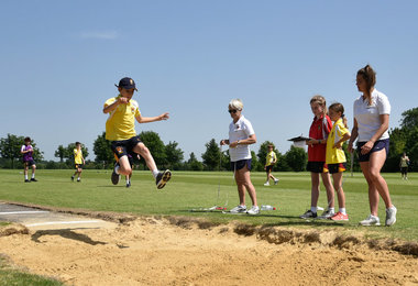 Newbury boy longjump event on sports day 2019
