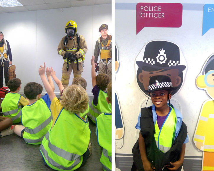 Yr 1 pupils learn about jobs at stansted airport