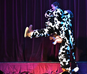 Pantomime cow in the Prep School!