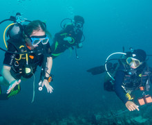 Divers underwater in philippines 2019 2