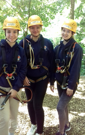 L5th girls high ropes on german exchange 2019
