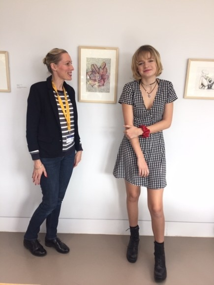 Charlotte Munck with Freya at Henry Moore Foundation