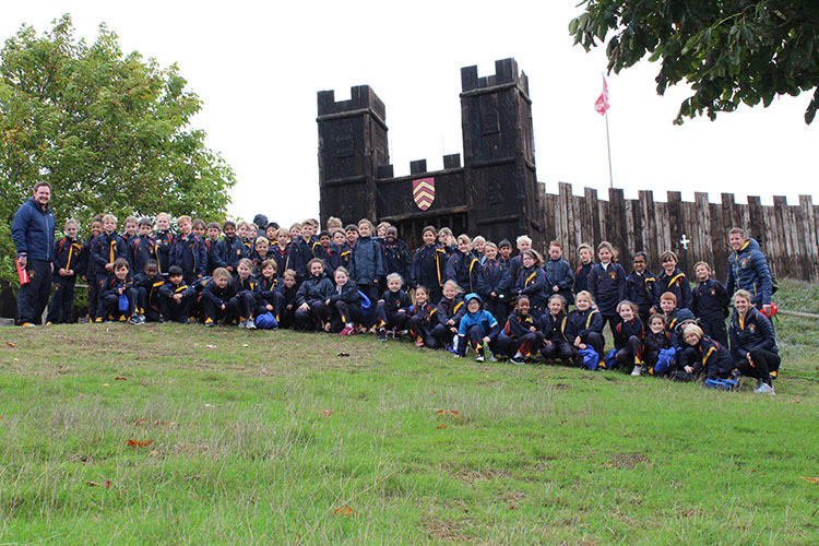 Upper Shell Pupils at Mountfitchet Castle October 2019