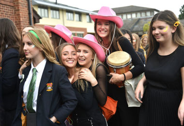 Senior School girls before House Music 2019