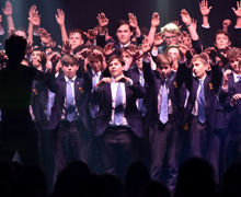 Collett House boys singing unison House Music 2019