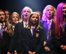 Alliott GIrls singing unison in House Music 2019