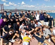 Group photo on portugal rugby tour 2019
