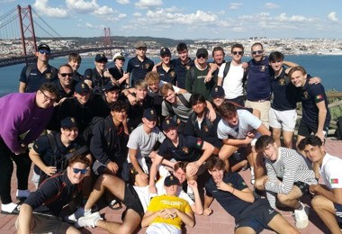 Senior school group on portugal rugby tour 2019