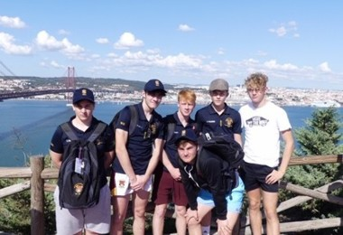 Senior school pupils in lisbon on rugby tour 2019