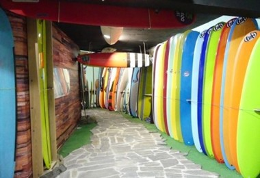 Surf boards on portugal rugby tour 2019
