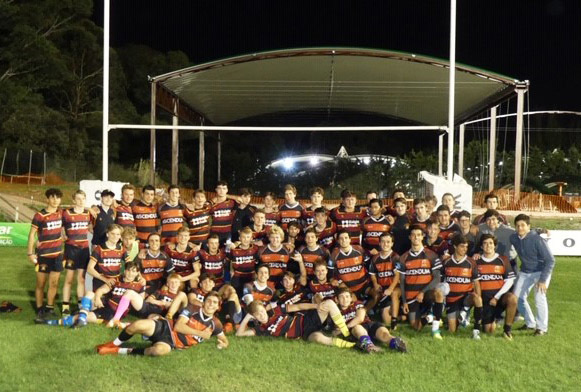 College team on portugal rugby tour 2019