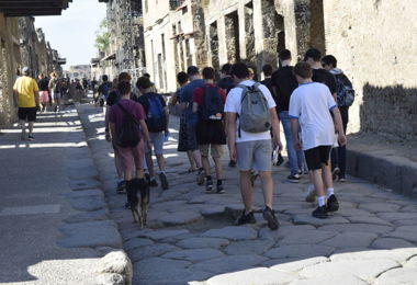 Senior School pupils on Classics Trip in Italy half term 2019