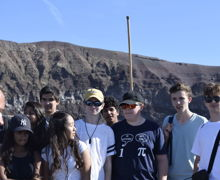 Senior School pupils together on Classics Trip 2019