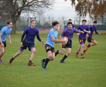Hayward v Collett in Senior House Rugby 2019