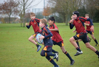 Strong Team Spirit in Senior House Rugby