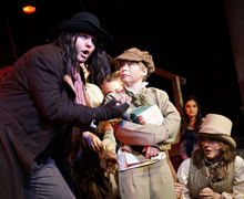 Fagin with Oliver on stage 2019