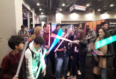 Light sabers at AWS Convention Las Vegas