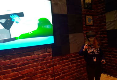 Virtual Reality game at AWS Convention