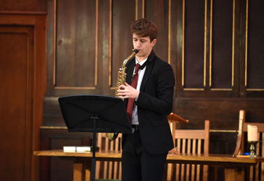 Saxophone performance in URC January 2020