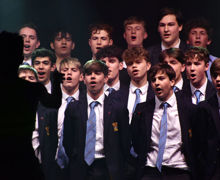 Boys from Collett sing in House Music Unison 2019