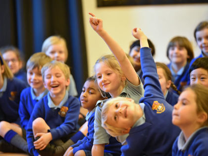 Pre-Prep pupils enjoy Steve Cole talk